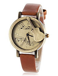 Women's Retro Guitar Dial PU Band Quartz Wrist Watch (Assorted Colors) Cool Watches Unique Watches