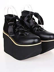 Black PU Leather 10CM Platform Gothic Lolita Shoes