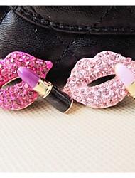 1pcs accessoires en alliage de lèvres embarqués main en strass embarqué du matériel de bricolage (de couleurs assorties)