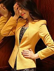 Peach John Women's Long Sleeve Slim Fashion Round Collar Causual Temperament Overcoat