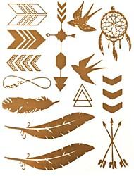 Tatuajes Adhesivos - Modelo/Brillante - Series de Joya - Mujer/Girl/Adulto/Juventud - Multicolor - Papel - #(1) - #(27*14.5*0.1)