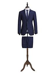 bande bleue adaptée costume ajustement 100% laine