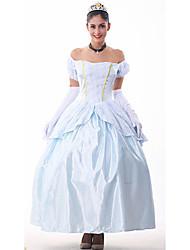 brocado peplum plata bola azul costumefor princesa vestido de carnaval