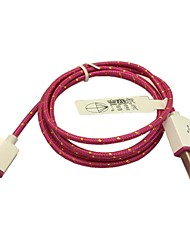 1M Braided Fabric Micro USB Sync Adapter Charger Cable for Samsung Galaxy S3/S4 Sony LG (Rose)