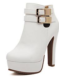 Laimei Frauen-Mode-England-Stil elegant runde Kappe Stiletto Heels Schuhe
