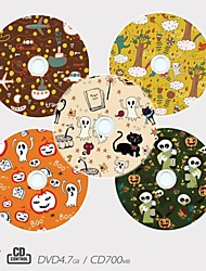 Personalized CD-R/DVD-R Recordable Disc Cartoon Pattern Different Designs Magic Gift (Set of 5)