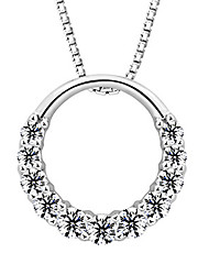 Seven Women's Fine Silver All Matching Leisure Necklace