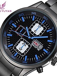 Men's Watch Japanese Quartz Dress Watch Calendar / Water Resistant/Water Proof Alloy Band Wrist watch Cool Watch Unique Watch
