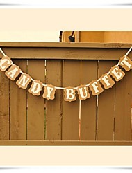 Wedding Décor Kraft Paper 'CANDY BUFFET' Banner  Sweet Table Sign Decorations