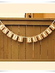 Wedding Décor Kraft Paper 'CANDY BUFFET' Banner  Sweet Table Sign Decorations