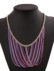 Women's Vintage Multi-level Tassel Alloy Necklace