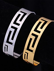 U7® Vintage Hollow Scroll 18K Real Gold Platinum Plated Cuff Bracelets