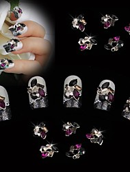 10pcs 10 Metal Color Diamond 3D Nail Art Decoration