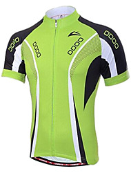 VEOBIKE Men 's Summer Breathable Polyester Short Sleeve Cycling Jersey - Green