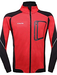 OUTTO Men's Winter Thermal Fleece Long Sleeve Cycling Jersey Jacket