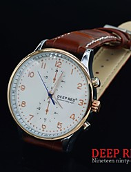 Men Luxury Quartz Leather Miyota 2035 Hollow Back Steel Case Business Casual Fashion Wrist Watch(Assorted Color)