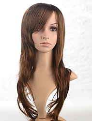 Capless Long Wavy Light Brown Synthetic Wigs