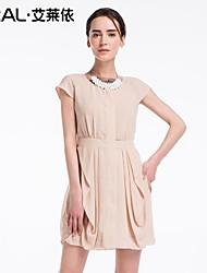 abito estivo elegante pizzo rappezzatura sottile vestito di un pezzo di eral®women