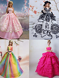 Princesse Robes Pour Poupée Barbie Violet / Rose Robes Pour Fille de Doll Toy