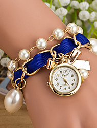 Wanbao Women's Elegant Pearl Bracelet Watch