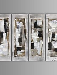 Pintados à mão Abstrato / Fantasia 4 Painéis Tela Pintura a Óleo For Decoração para casa