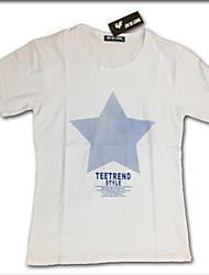 Herren Rundhals Lässige Short Sleeve Print-Sterne-Tops T-Shirts