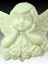 penser angel rose en forme de fleur outils fondant gâteau au chocolat en silicone moule à cake de décoration, l7.4cm * * w7.2cm h3.7cm
