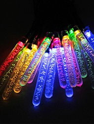 Sor-20-21 festival de la glace solaire chaîne de lampe de décoration jardin de la cour 20LED 4.8m