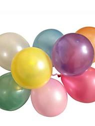 épaissir nacrés ballons ronds d'émulsion (100pcs) couleur aléatoire