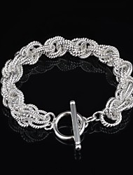 Woman's Fashion Personality Weave Silver Plated Bracelet