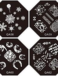 1шт новый ноготь штамповки изображения плиты тропического суки цветок пластина для DIY ногтей искусство украшения (ассорти шаблон)