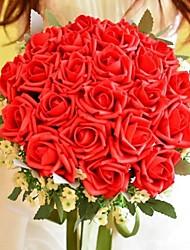 Fleurs de mariage Rond Roses Bouquets Mariage Polyester Soie Env.30cm
