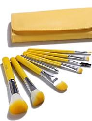 Lemon Yellow Makeup Brush Set