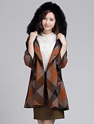 casacos de peles de moda 3/4 manga com capuz casaco de pele de vison