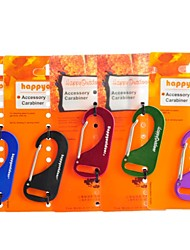 Flat Carabiner With Wire Gate Quick Release Buckle Hanging (Random Color)
