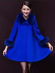 Rebecca Women's New Linen Wool Blends Large Yard Coat Coat