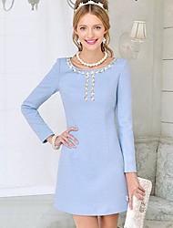 dabuwawa Frauen alle eine Online-Edelstein-Tweed-Kleid passen