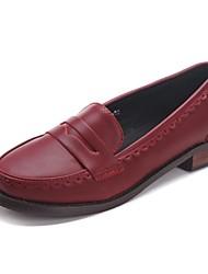 женская обувь круглого Toe коренастый пятки бездельников обувь более цветов