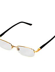 [бесплатная линзы] никель сплав прямоугольник половина обод классический чтения очки