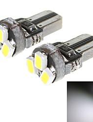 t5 1W 23lm 6000K 3-SMD 1206 LED White Light автомобилей инструмент лампы (12V / 2 шт)