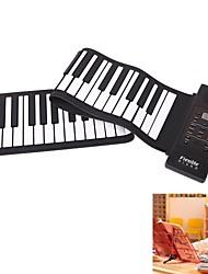 61 teclas portátiles regalo teclado flexible rollo de piano electrónico suave para niño