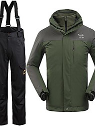 Outdoor Men's Clothing Sets/Suits / Winter Jacket Skiing Waterproof / Windproof / Thermal / Warm Winter Army Green S / M / L / XL / XXL