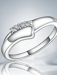 Sweet Fashion Silver Bnad Ring (1 pc)