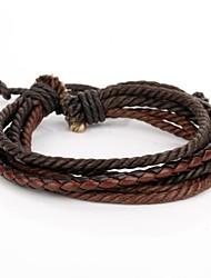 Le bracelet en cuir en cuir corde de café très cool de café des hommes réglables (1 pièce)