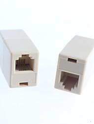 RJ45 Connectors Network Straight Head RJ45 Connection Cable Line Extender Extended Interface (5Pcs)