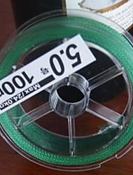 de haute qualité pe 100m 4 tressée ligne de pêche 10-101lb