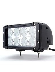 dy-sc4080 80w 6000k 6800lm hohe Intensität 8-CREE LED Weißlichtpunktstrahl Offroad-Lampe (10-60v DC) (schwarz)