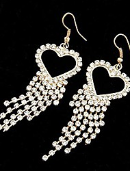 Simulated Diamond Fashion Heart Gold Jewelry