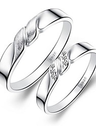 Gorgeous Fine Jewelry  925 Sterling Silver Rings (one pair)/Promis Rings For Couples