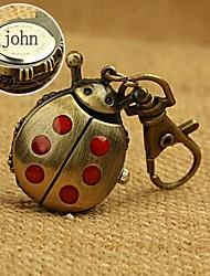 orologio a forma di lega di regalo personalizzato coccinella inciso fibbia chiave